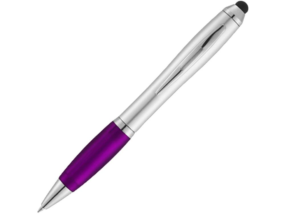 Ручка-стилус шариковая Nash, серебристый/пурпурный