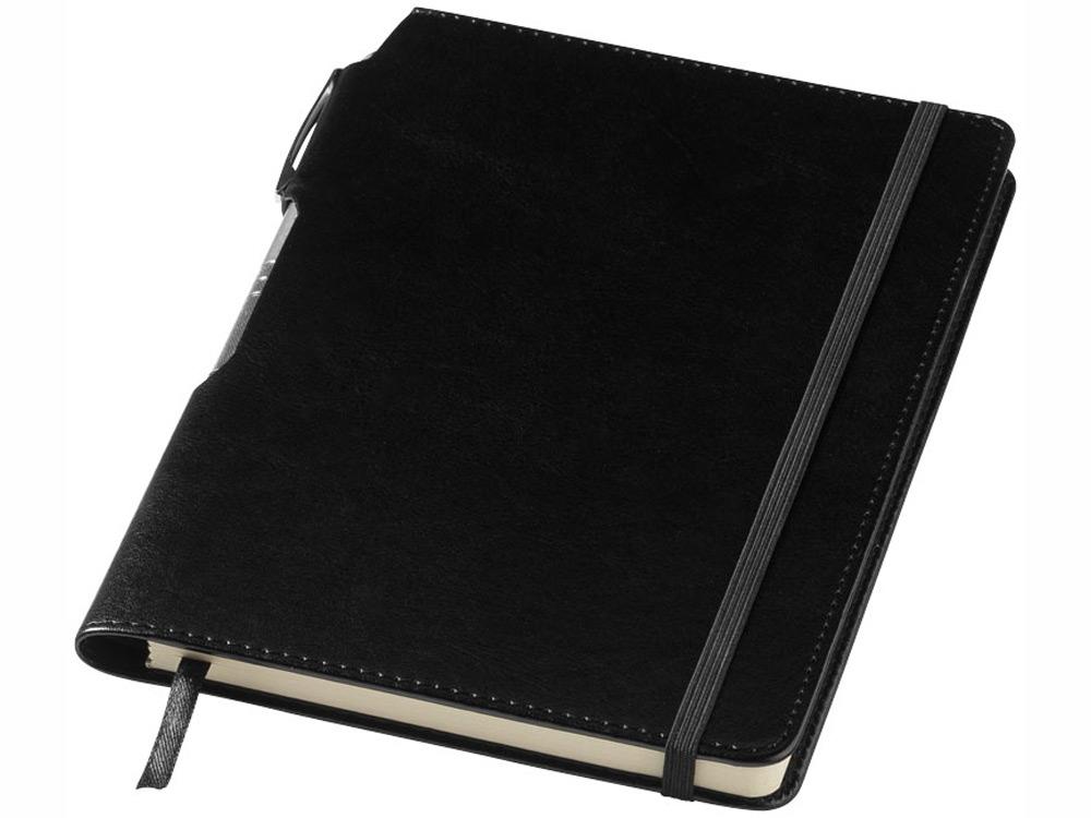 Блокнот А5 Panama с ручкой, черный