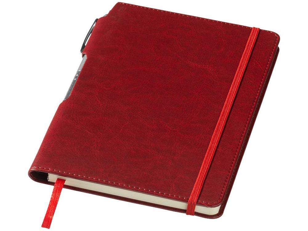 Блокнот А5 Panama с ручкой, красный