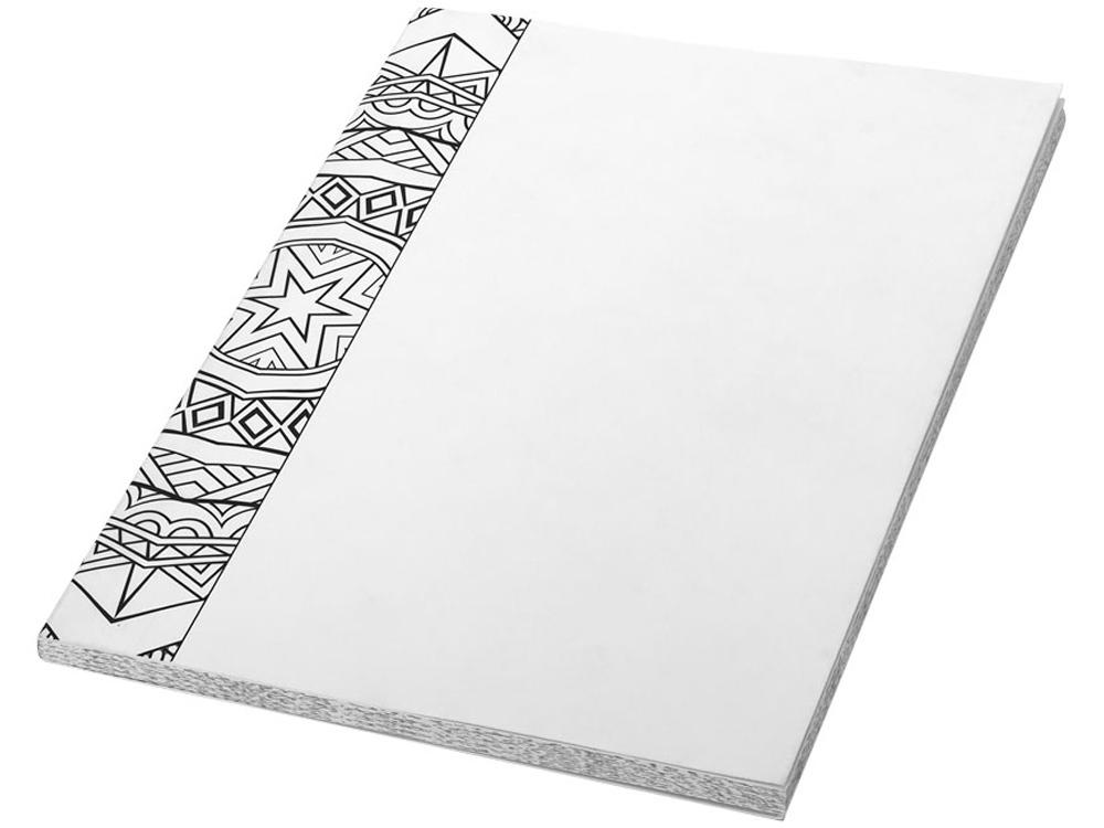 Блокнот А5 Doodle Colour Therapy, белый/черный