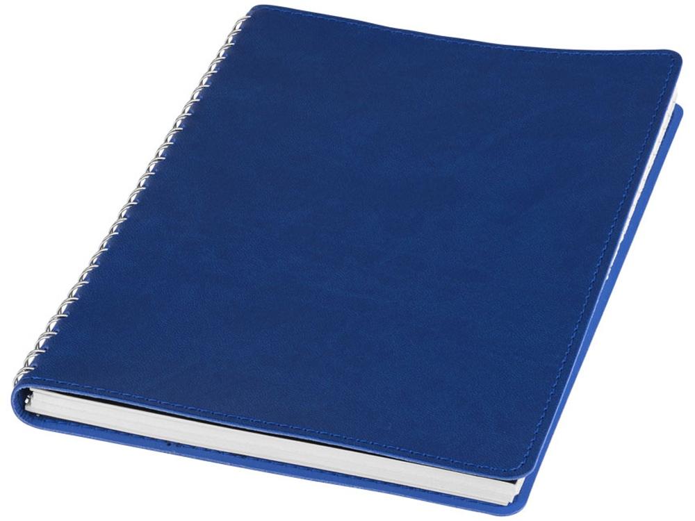 Блокнот Brinc А5, ярко-синий/серебристый