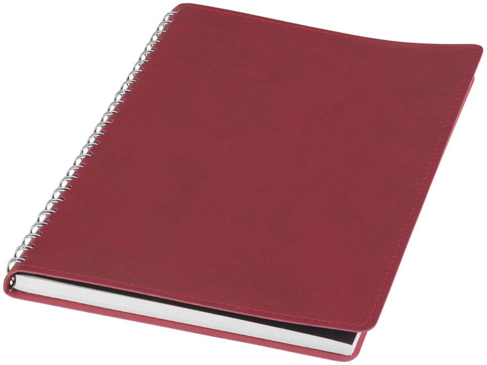 Блокнот Brinc А5, красный/серебристый