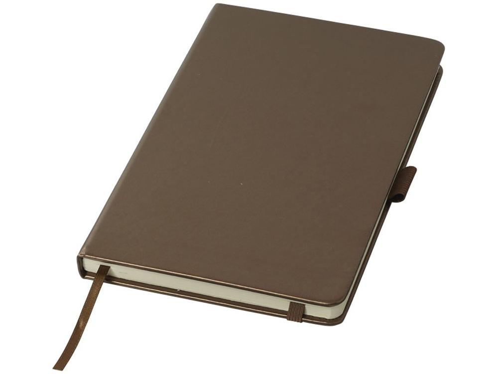 Цветной Блокнот Metal А5, коричневый