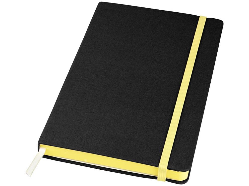 Блокнот Frappé тканевый, черный/желтый