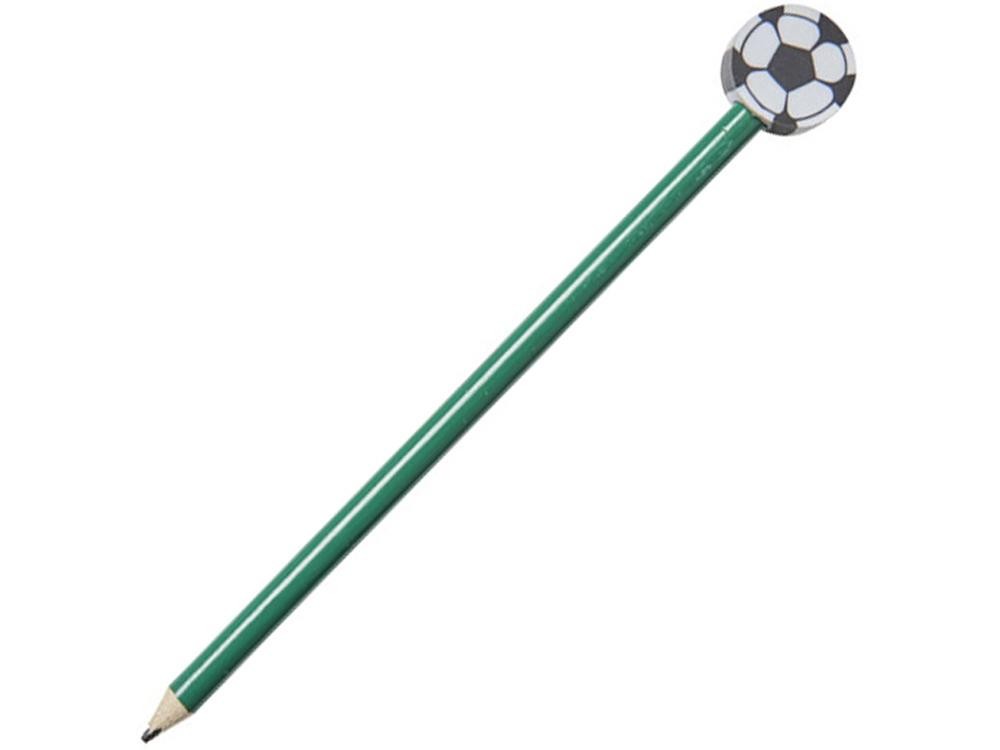 Карандаш «Футбольный мяч», зеленый