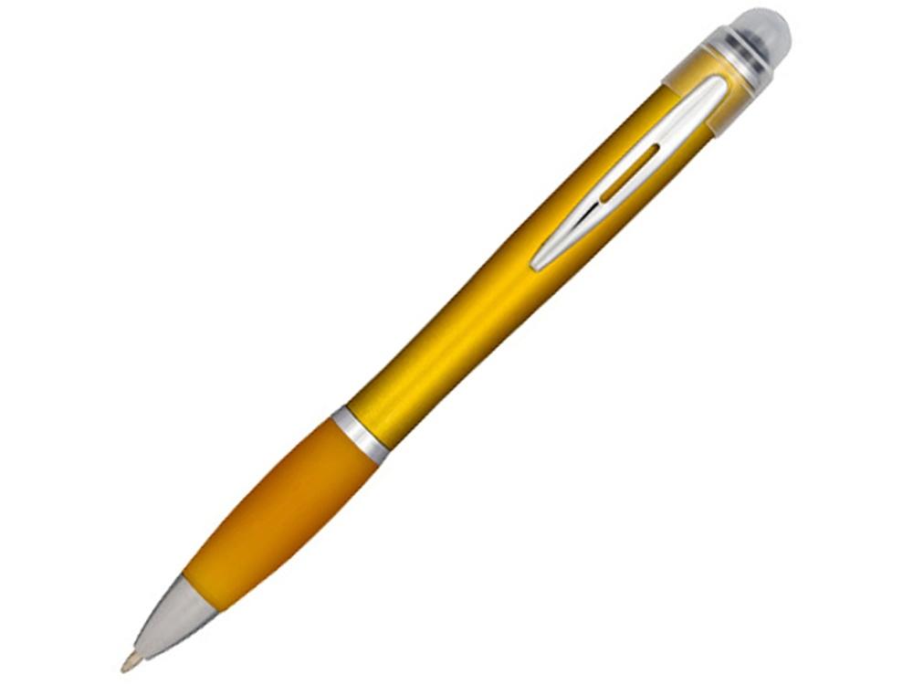 Ручка цветная светящаяся Nash, желтый