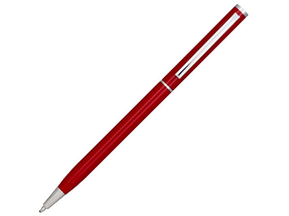 Ручка металлическая шариковая Slim, красный