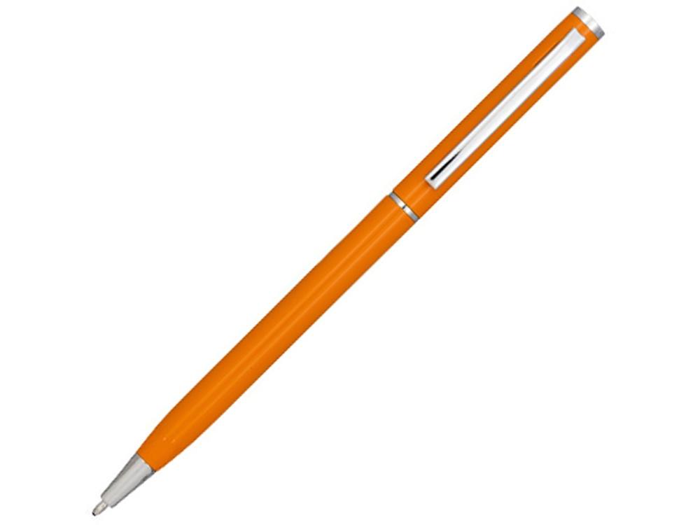Ручка металлическая шариковая Slim, оранжевый