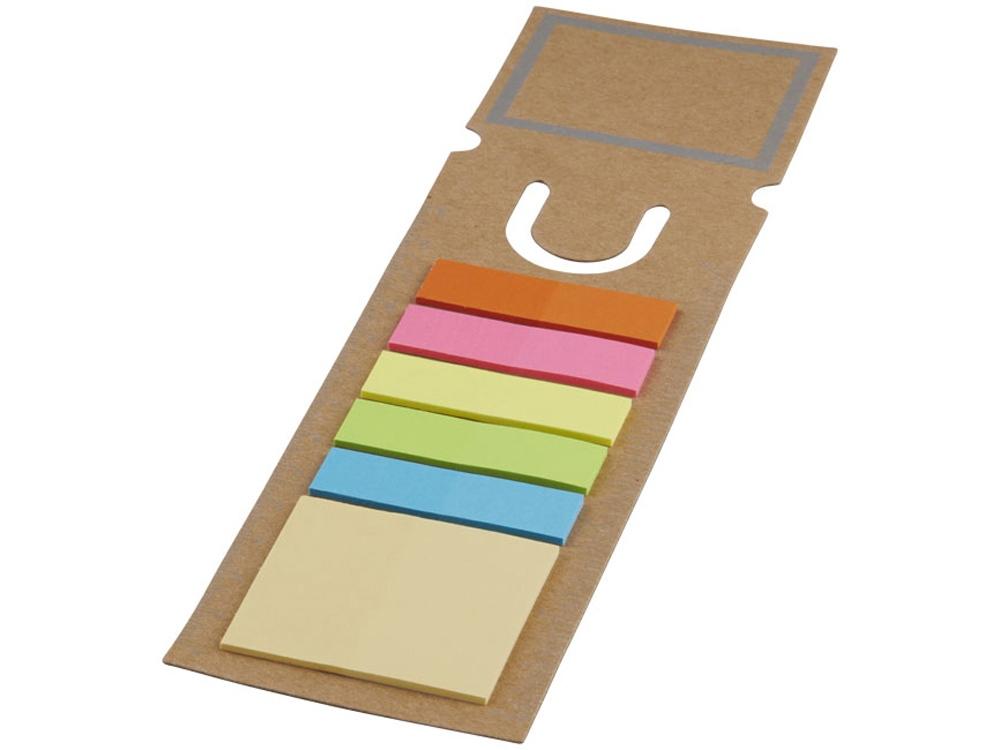 Закладка с набором стикеров, коричневый
