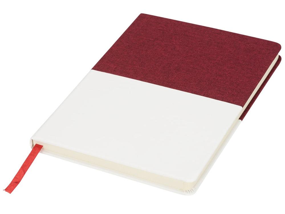 Блокнот А5 двухцветный, красный