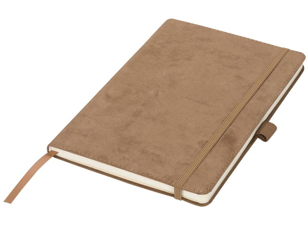 Блокнот А5 Suede, коричневый