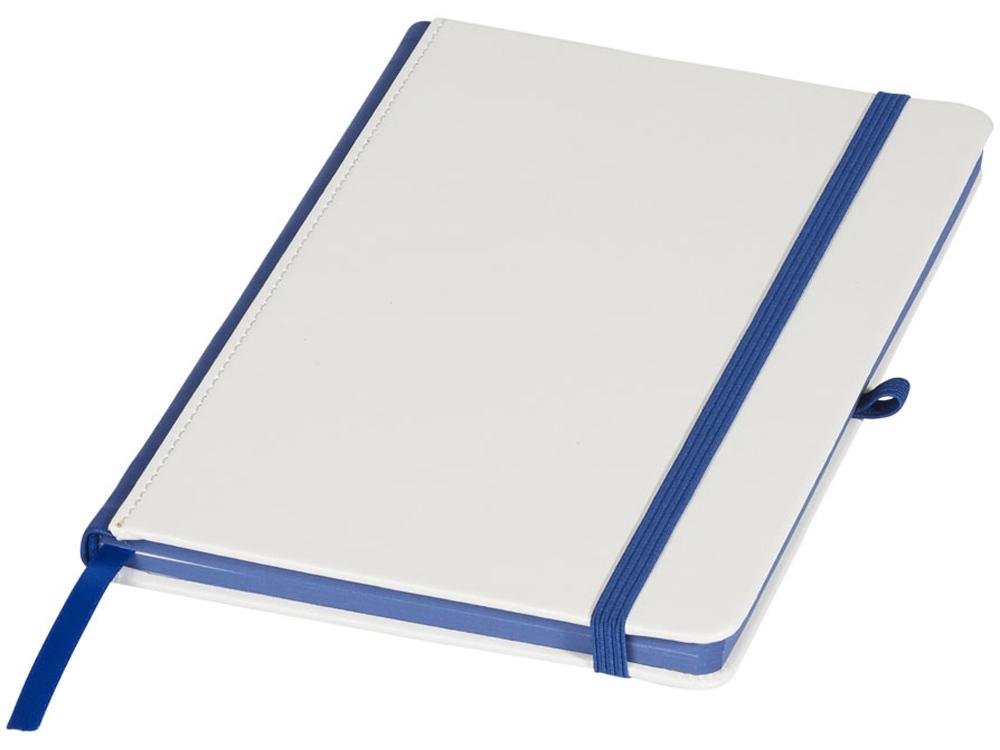Блокнот А5 Solid, белый/ярко-синий