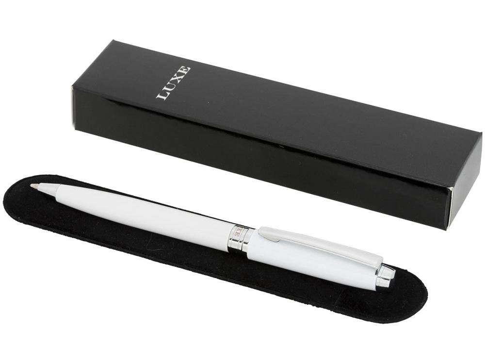 Ручка металлическая шариковая Aphelion, белый/серебристый