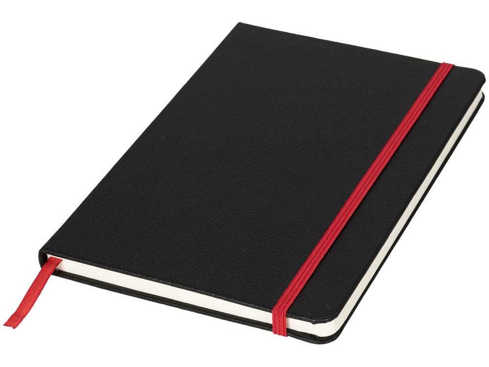 Блокнот А5 «Lasercut», черный/красный