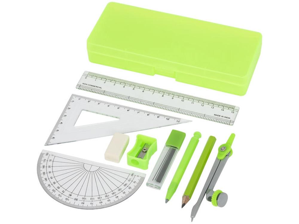 Школьный набор для геометрии Julia из 9 предметов, зеленый
