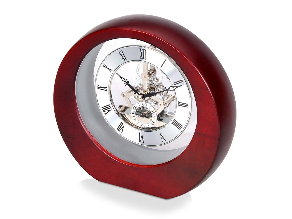 Часы настольные Эдервилль, коричневый/серебристый