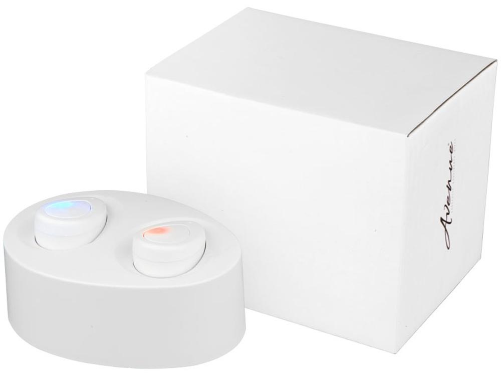 Беспроводные наушники с зарядным чехлом, белый
