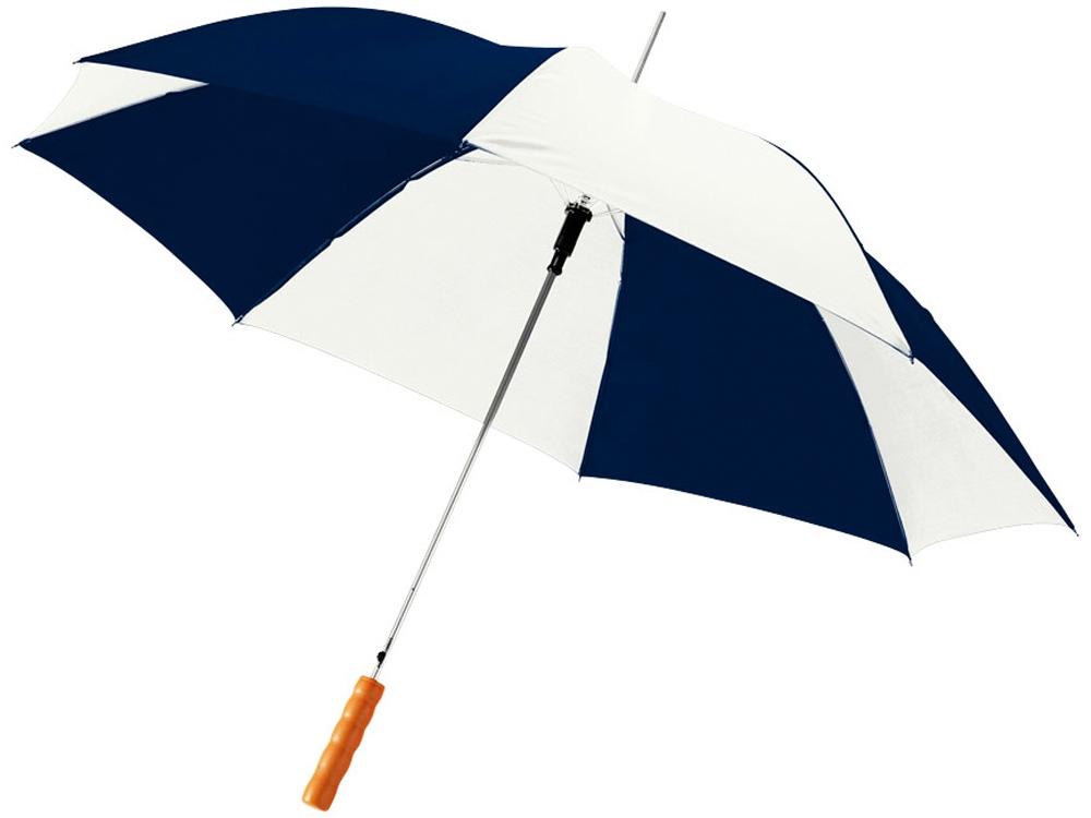 Зонт-трость Lisa полуавтомат 23, темно-синий/белый