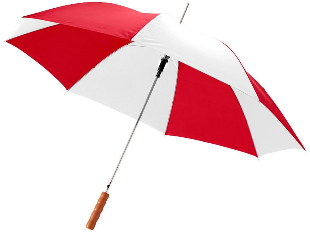 Зонт-трость Lisa полуавтомат 23, красный/белый