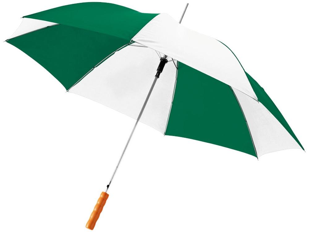 Зонт-трость Lisa полуавтомат 23, зеленый/белый