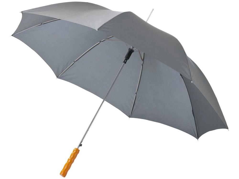 Зонт-трость Lisa полуавтомат 23, серый