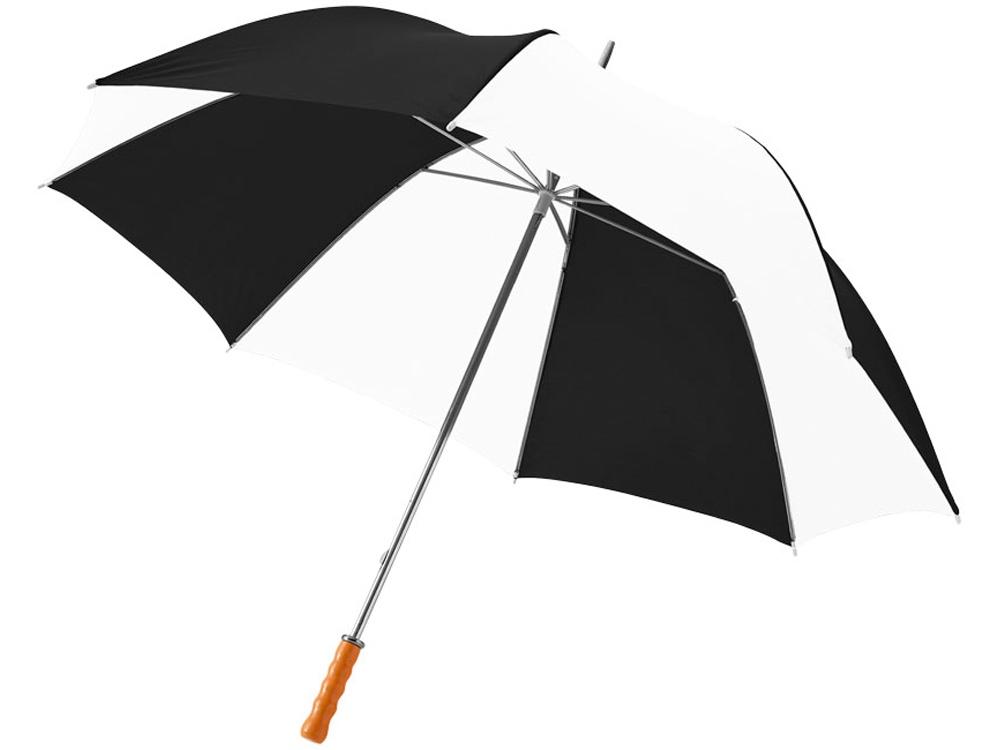 Зонт Karl 30 механический, черный/белый