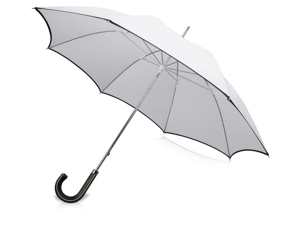 Зонт трость Ривер, механический 23, белый