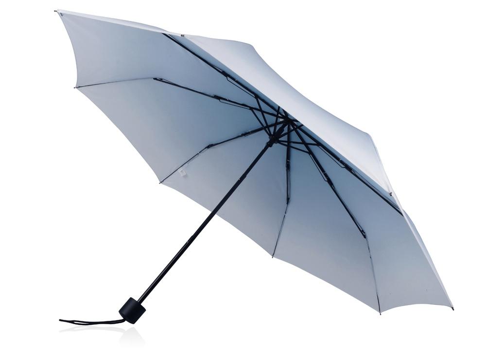 Зонт складной Shirley механический 21,5, белый/синий