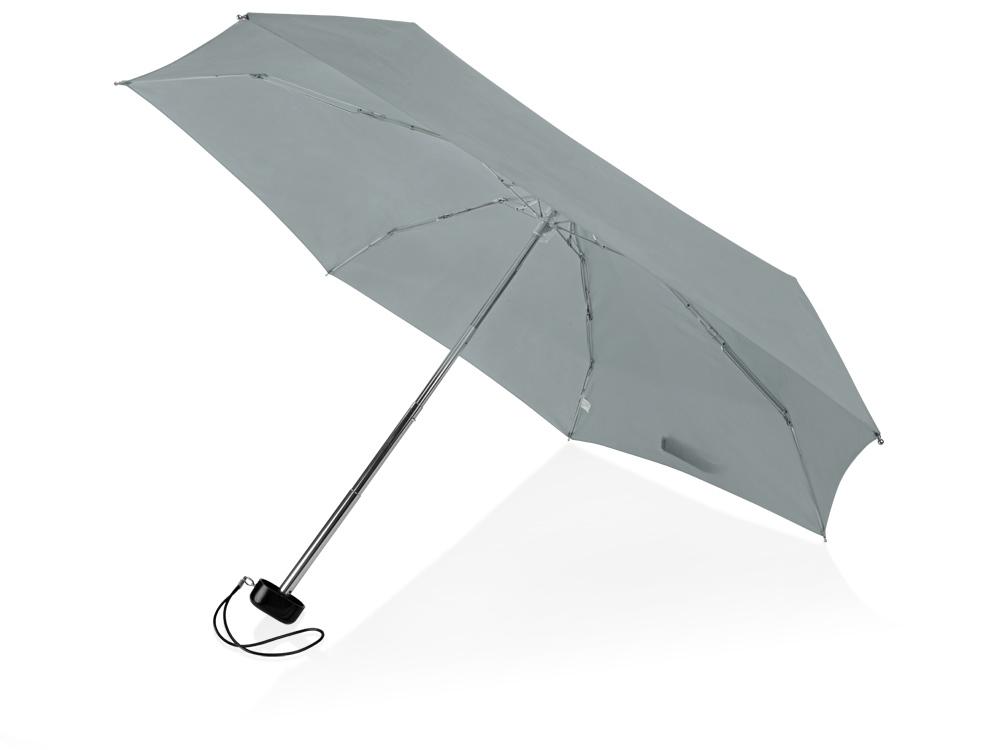 Зонт складной Stella, механический 18, серый