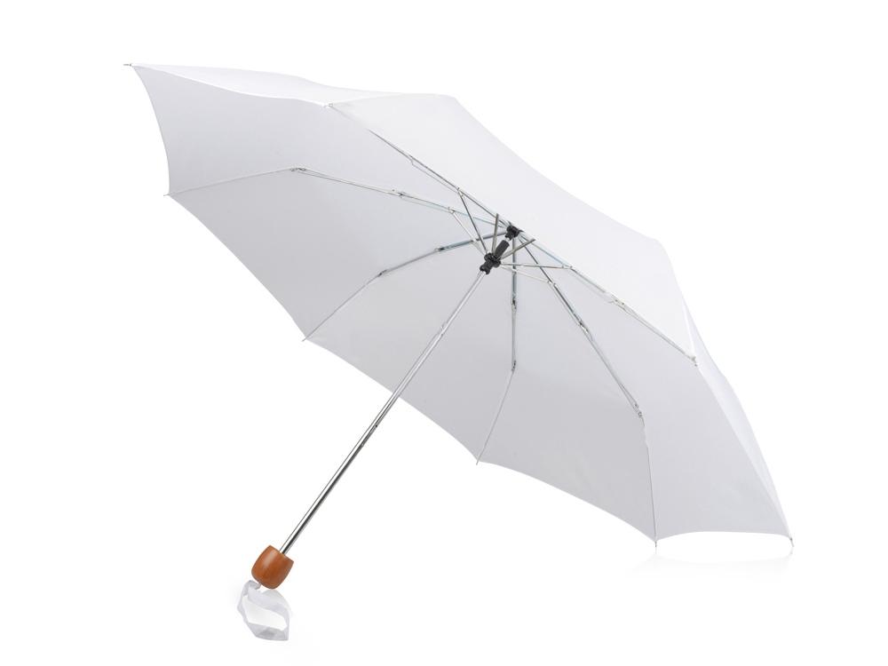 Зонт складной Oliviero, механический 21,5, белый