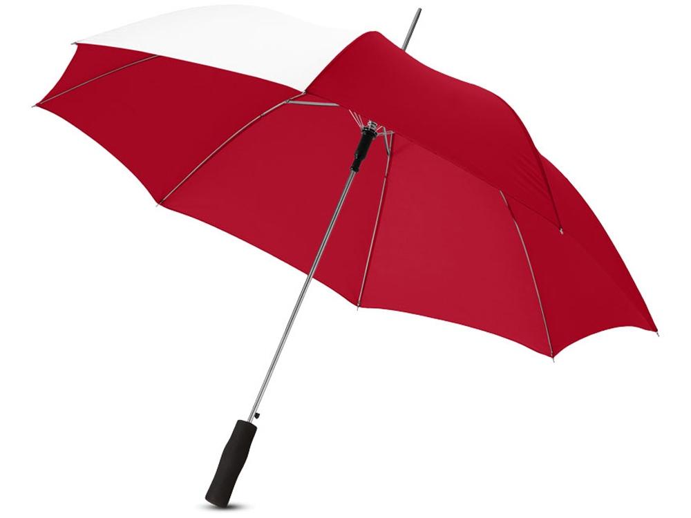 Зонт-трость Tonya 23 полуавтомат, красный/белый
