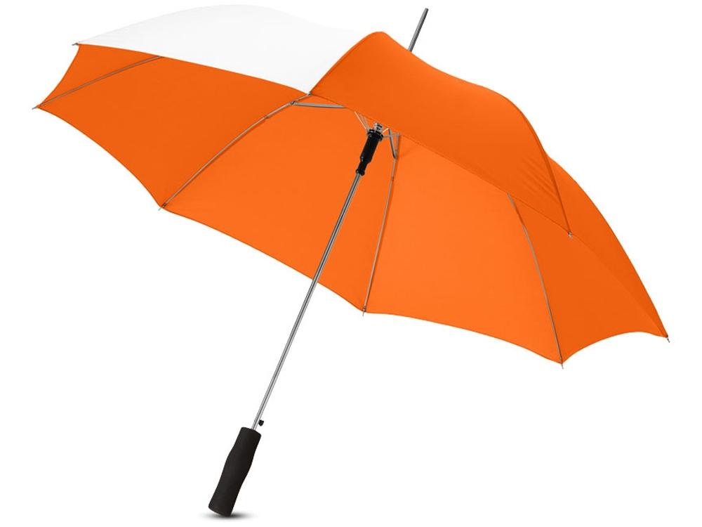 Зонт-трость Tonya 23 полуавтомат, оранжевый/белый