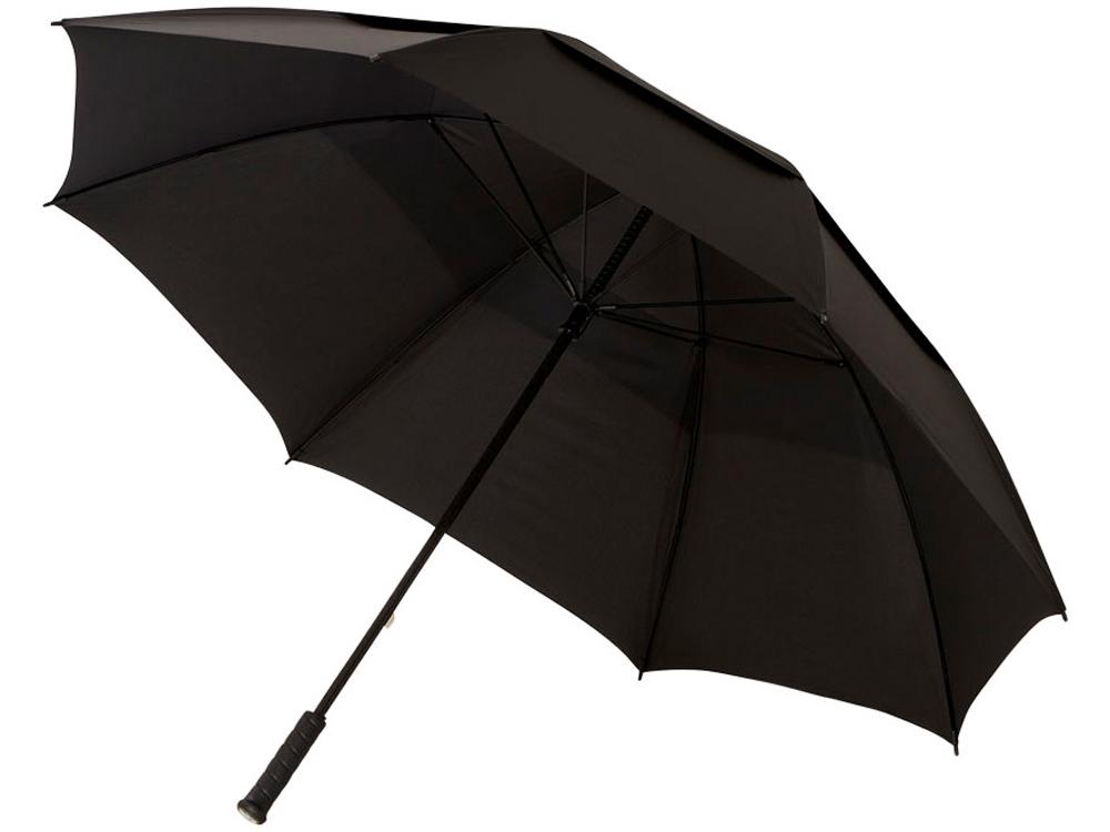 Зонт-трость Newport 30 противоштормовой, черный