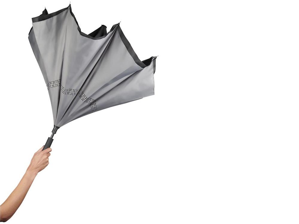 Зонт Lima 23 с обратным сложением, черный/серый