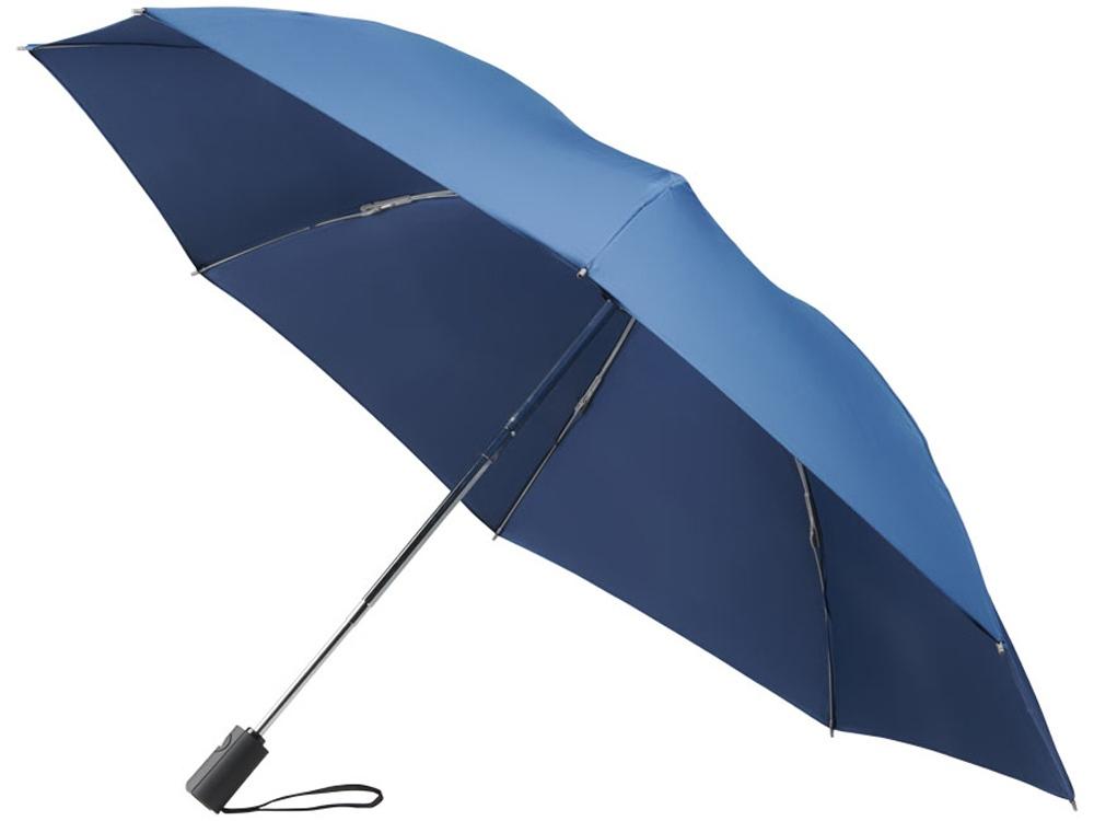 Зонт складной полуавтомат, темно-синий