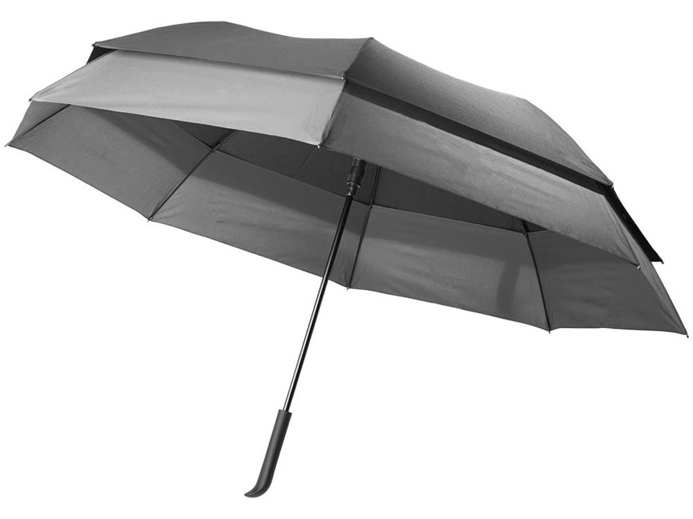 Выдвижной зонт 23-30 дюймов полуавтомат, черный