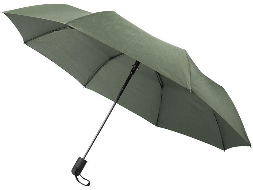 Складной полуавтоматический зонт Gisele 21 дюйм, зеленый