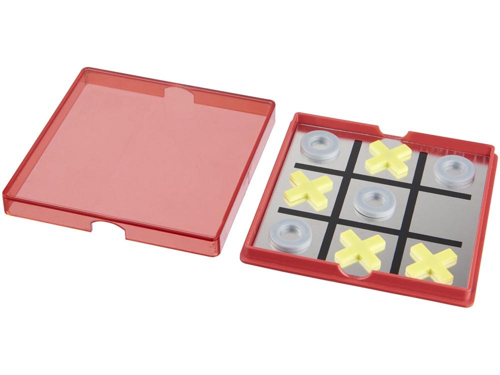 Магнитная игра Winnit tic tac toe, красный прозрачный