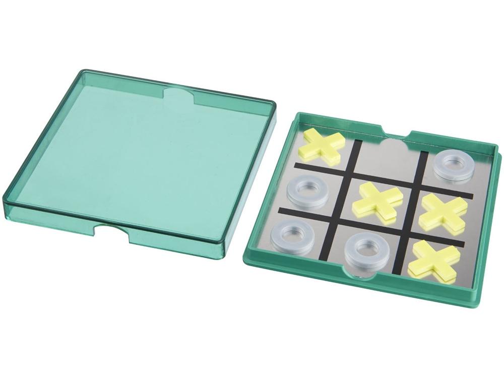 Магнитная игра Winnit tic tac toe, зеленый прозрачный