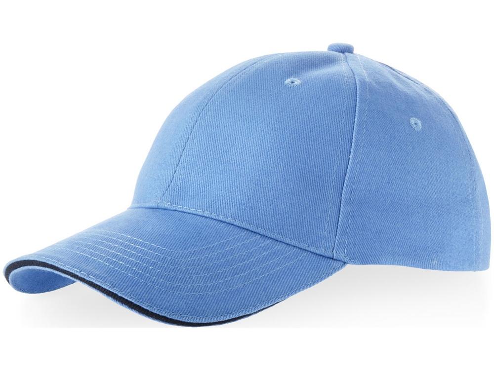 Бейсболка Challenge 6-ти панельная, небесно-голубой/темно-синий