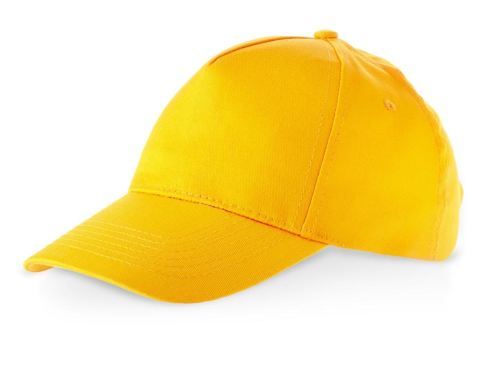Бейсболка Memphis C 5-ти панельная, золотисто-желтый
