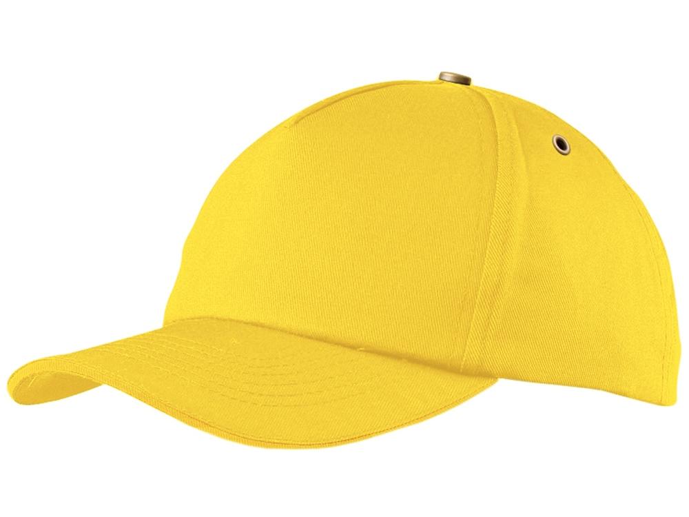 Бейсболка New York C  5-ти панельная, желтый