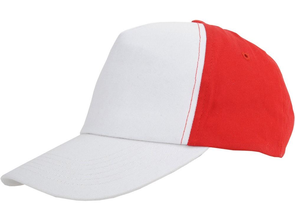 Бейсболка Arizona 5-ти панельная, белый/красный