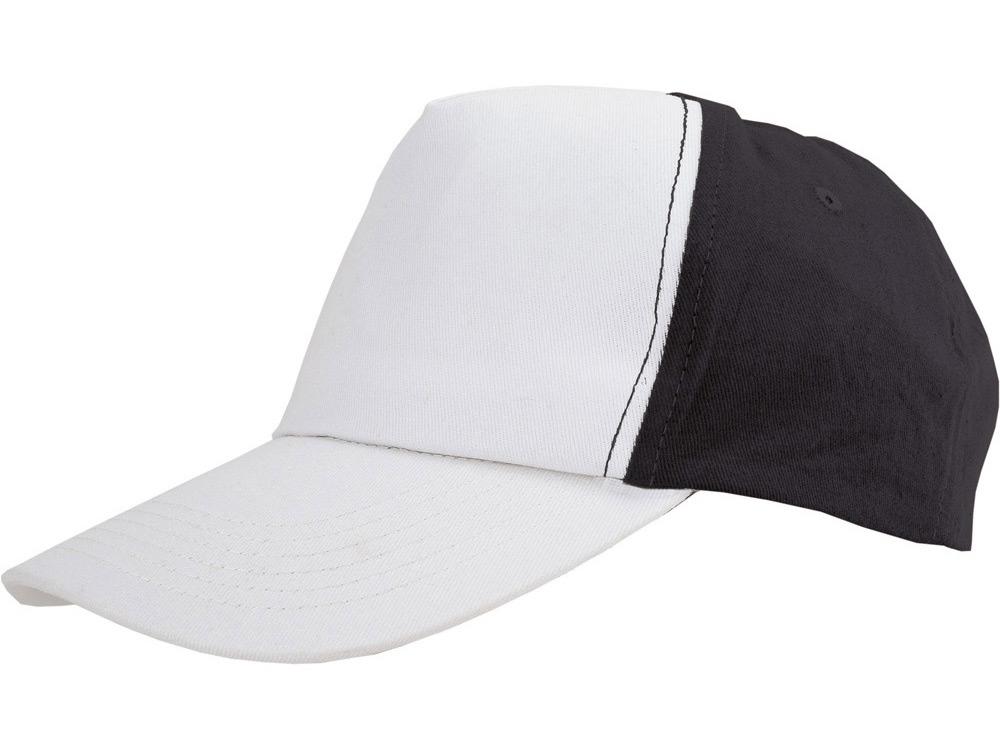Бейсболка Arizona 5-ти панельная, белый/черный