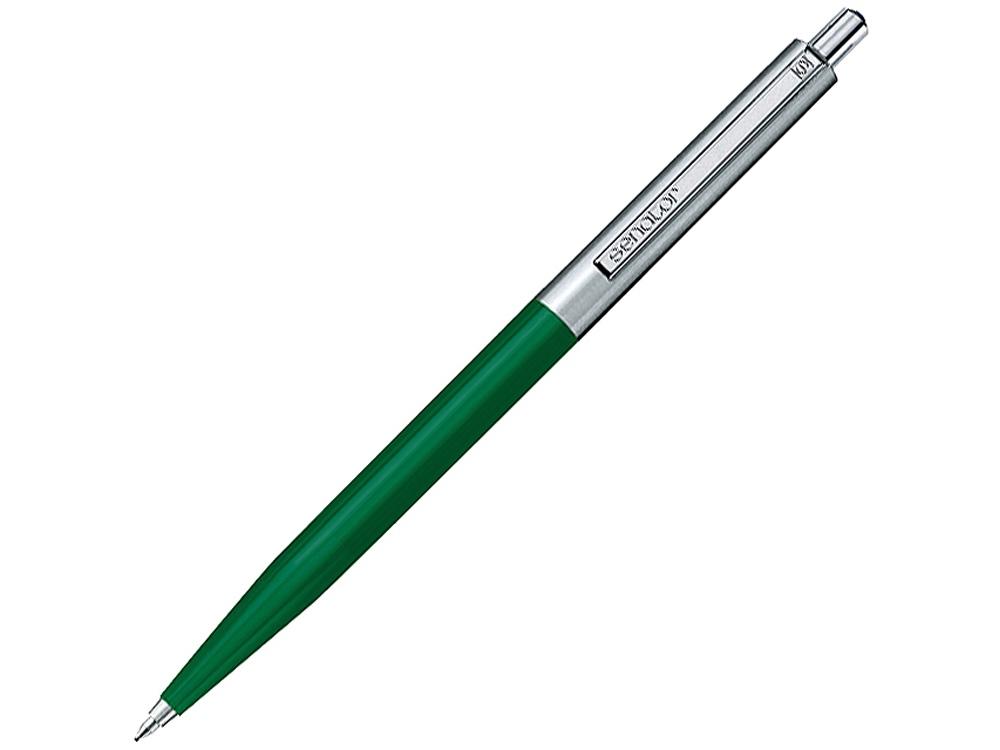 Ручка шариковая Senator «Point Polished Metal», зеленый/серебристый
