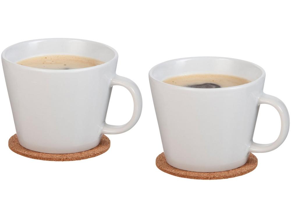 Набор чашек и костеров Hartley, белый