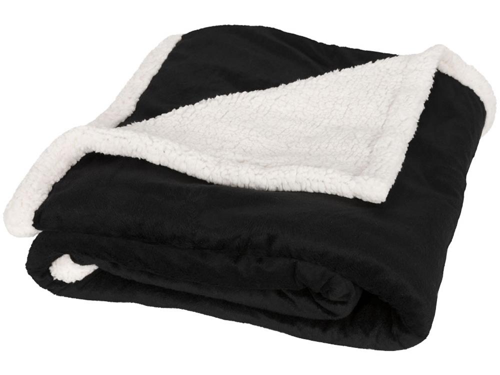 Плед «Sherpa», черный/белый