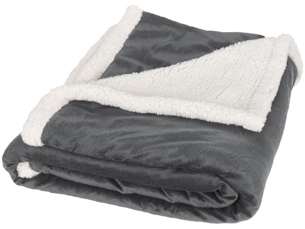 Плед «Sherpa», серый/белый
