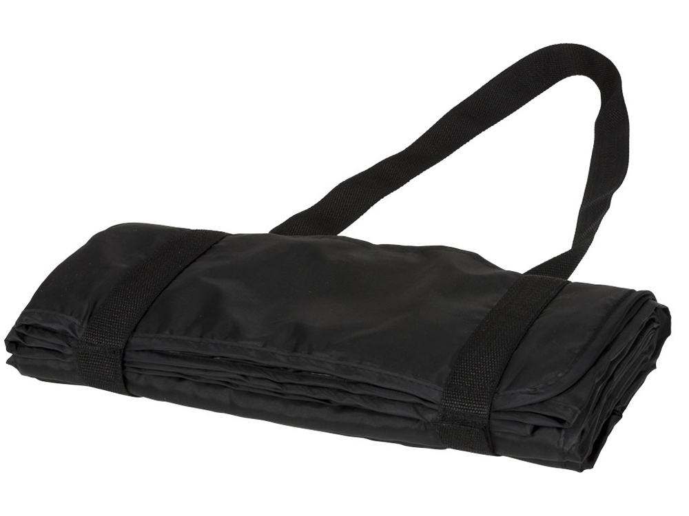 Плед Picnic с ремнем для переноски, черный