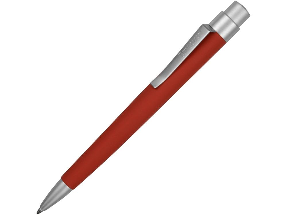Ручка шариковая Diplomat модель Magnum Soft Touch,  красный